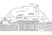 European Style House Plan - 2 Beds 2.5 Baths 2641 Sq/Ft Plan #310-266 Exterior - Rear Elevation
