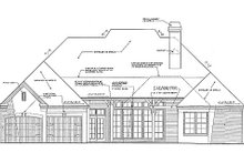 European Exterior - Rear Elevation Plan #310-266