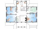 Log Style House Plan - 4 Beds 2.5 Baths 3493 Sq/Ft Plan #23-752 Floor Plan - Upper Floor Plan