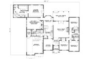 European Style House Plan - 4 Beds 3 Baths 2668 Sq/Ft Plan #17-1164 Floor Plan - Main Floor Plan