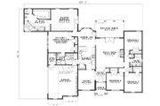 European Style House Plan - 4 Beds 3 Baths 2668 Sq/Ft Plan #17-1164 Floor Plan - Main Floor