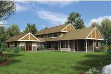 Dream House Plan - Contemporary Exterior - Rear Elevation Plan #48-661