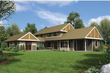Contemporary Exterior - Rear Elevation Plan #48-661
