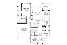 Modern Floor Plan - Main Floor Plan Plan #48-939