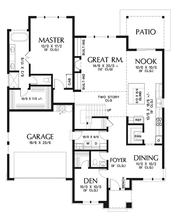 Modern Floor Plan - Main Floor Plan Plan #48-939
