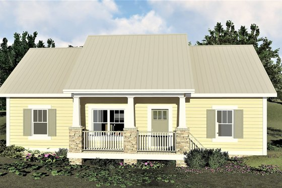 Craftsman Exterior - Front Elevation Plan #44-226