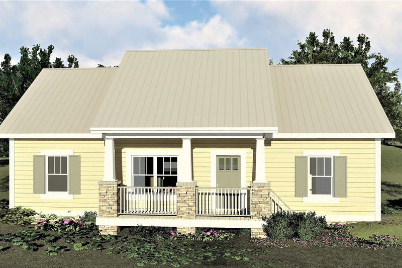 Architectural House Design - Craftsman Exterior - Front Elevation Plan #44-226
