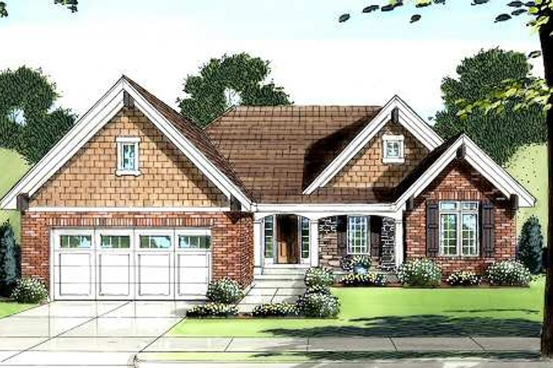 Traditional Exterior - Front Elevation Plan #46-400 - Houseplans.com
