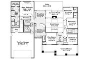 Craftsman Style House Plan - 4 Beds 2.5 Baths 2199 Sq/Ft Plan #21-330 Floor Plan - Main Floor Plan