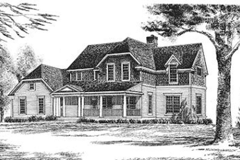 Country Exterior - Front Elevation Plan #70-365
