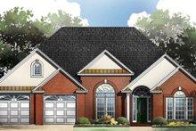 Architectural House Design - European Exterior - Front Elevation Plan #21-181