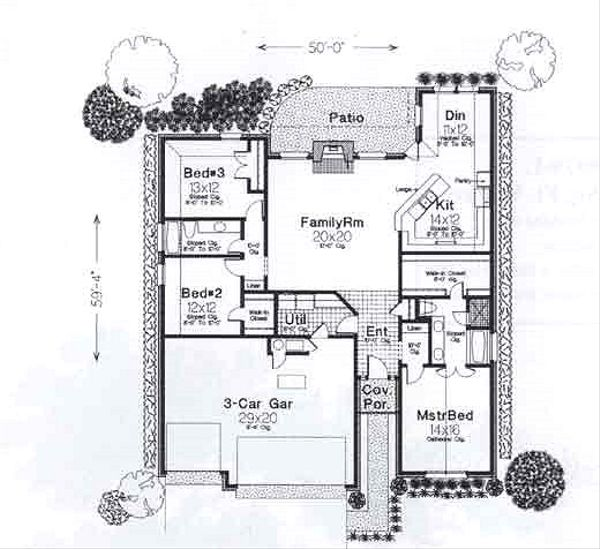 Traditional Floor Plan - Main Floor Plan #310-907