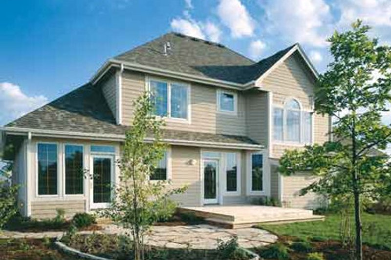 Traditional Exterior - Front Elevation Plan #50-199 - Houseplans.com