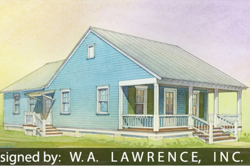 Cottage Style House Plan - 3 Beds 2 Baths 1112 Sq/Ft Plan #514-15 Exterior - Front Elevation