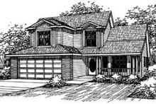 Architectural House Design - Farmhouse Exterior - Front Elevation Plan #124-317