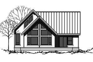 Contemporary Exterior - Front Elevation Plan #303-334