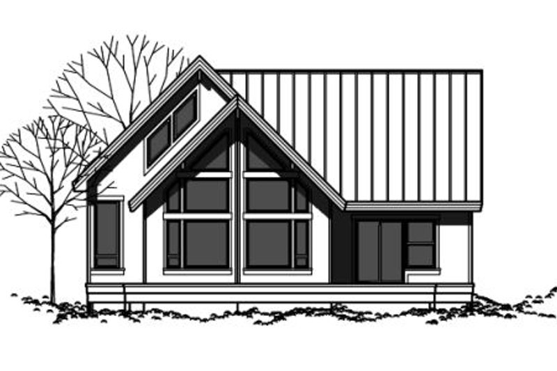 Contemporary Style House Plan - 2 Beds 2 Baths 1473 Sq/Ft Plan #303-334 Exterior - Front Elevation