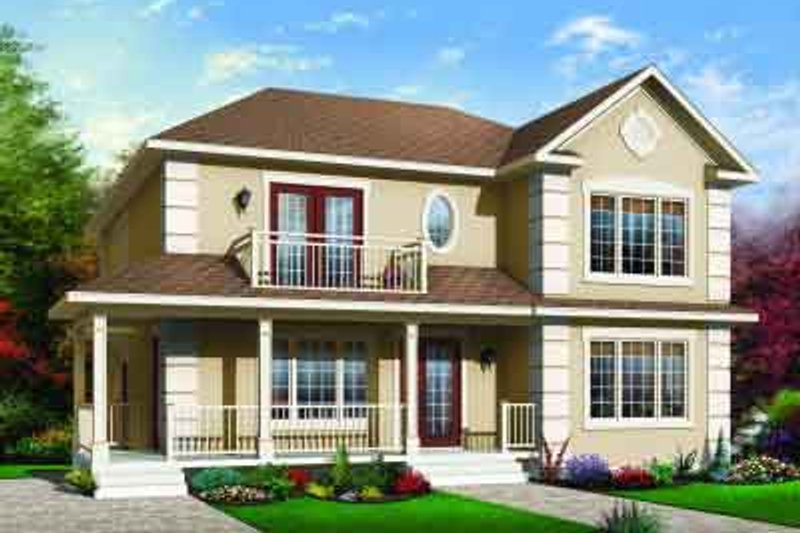 Traditional Exterior - Front Elevation Plan #23-556 - Houseplans.com