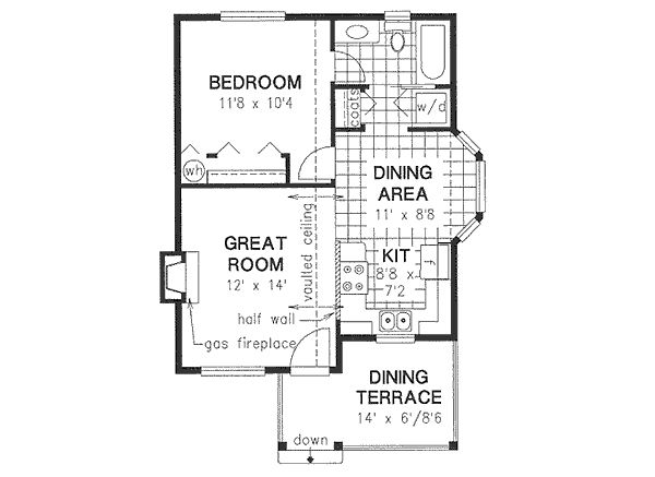 Cottage Floor Plan - Main Floor Plan Plan #18-4462