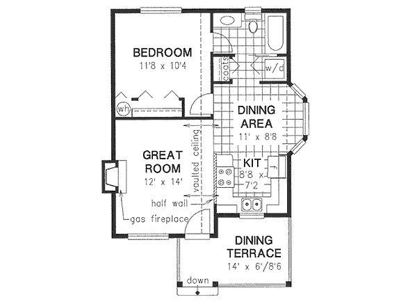 Cottage Floor Plan - Main Floor Plan #18-4462
