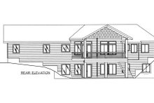 Dream House Plan - Modern Exterior - Rear Elevation Plan #117-582