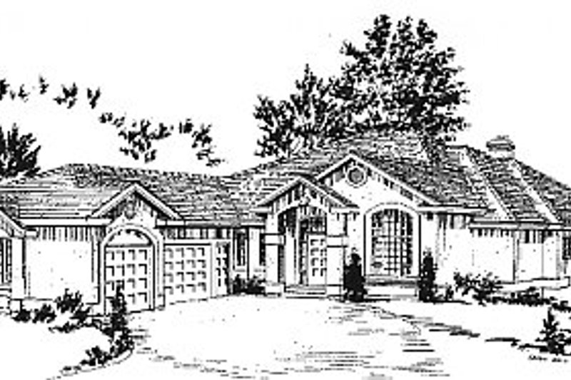 Mediterranean Exterior - Front Elevation Plan #18-173