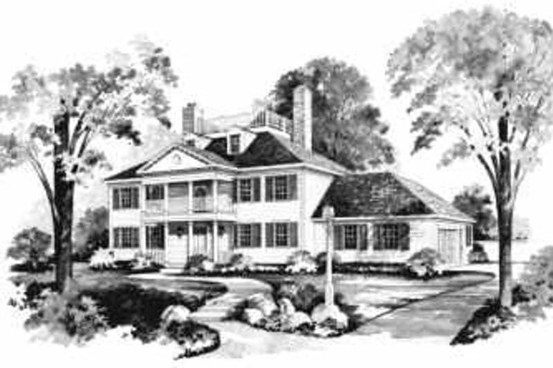 Colonial Exterior - Front Elevation Plan #72-360 - Houseplans.com