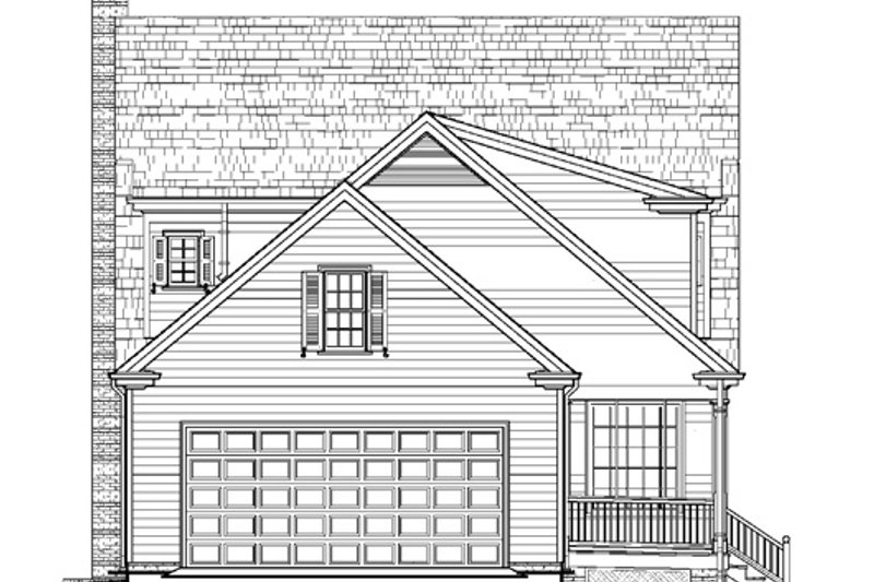 Colonial Exterior - Rear Elevation Plan #137-259 - Houseplans.com