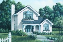 Cottage Exterior - Front Elevation Plan #57-153