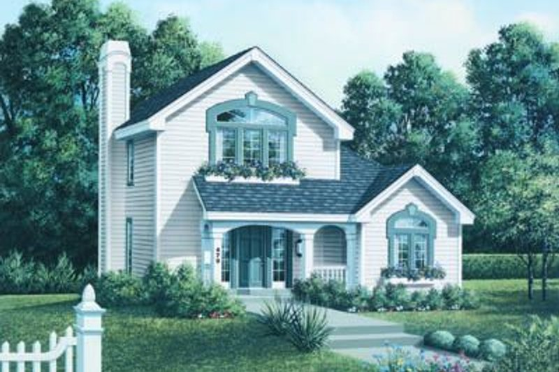 Dream House Plan - Cottage Exterior - Front Elevation Plan #57-153