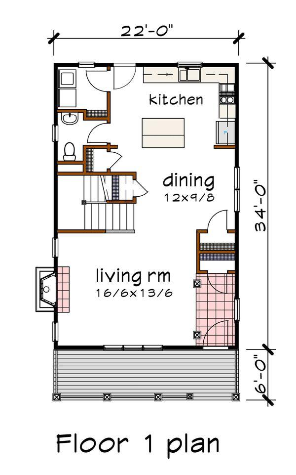 House Plan Design - Southern Floor Plan - Main Floor Plan #79-196