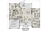 Farmhouse Style House Plan - 4 Beds 3.5 Baths 2514 Sq/Ft Plan #51-1143 Floor Plan - Main Floor Plan