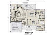 Farmhouse Style House Plan - 4 Beds 3.5 Baths 2514 Sq/Ft Plan #51-1143 Floor Plan - Main Floor Plan