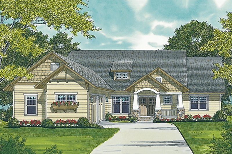 Craftsman Exterior - Front Elevation Plan #453-8