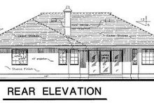 Ranch Exterior - Rear Elevation Plan #18-116
