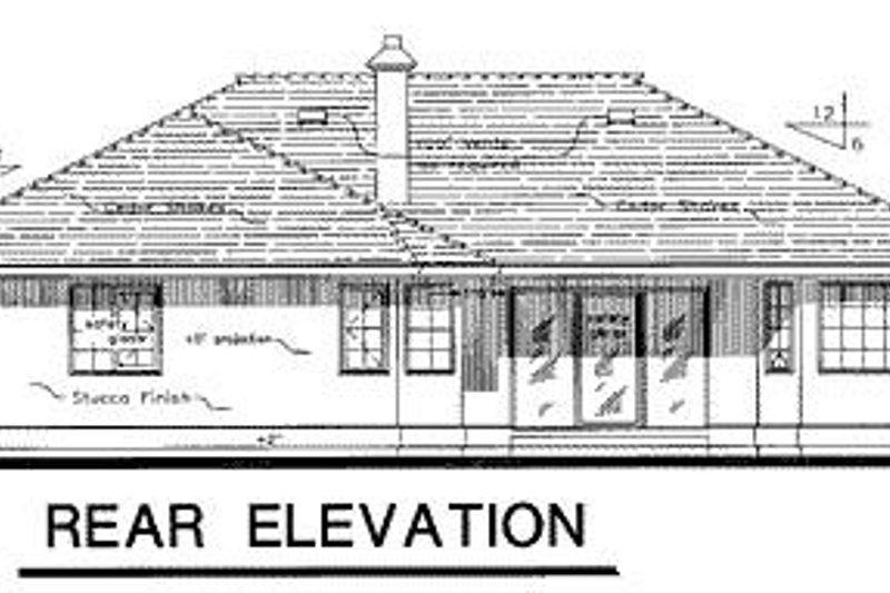 Ranch Exterior - Rear Elevation Plan #18-116 - Houseplans.com