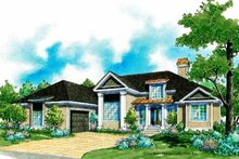 Country Exterior - Front Elevation Plan #930-184