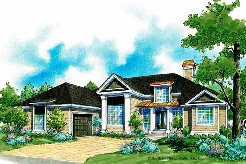 House Plan Design - Country Exterior - Front Elevation Plan #930-184