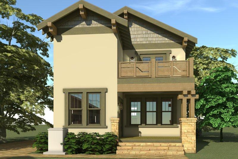 Craftsman Exterior - Rear Elevation Plan #64-224 - Houseplans.com