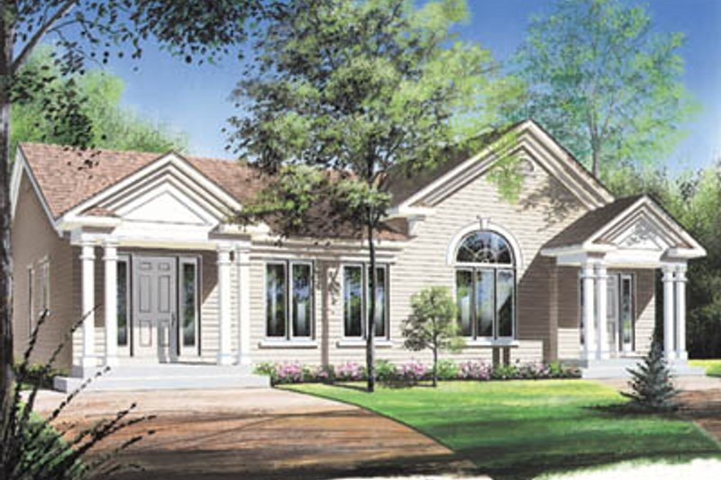 Traditional Exterior - Front Elevation Plan #23-164
