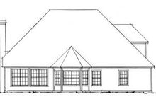 Home Plan Design - Traditional Exterior - Rear Elevation Plan #20-383