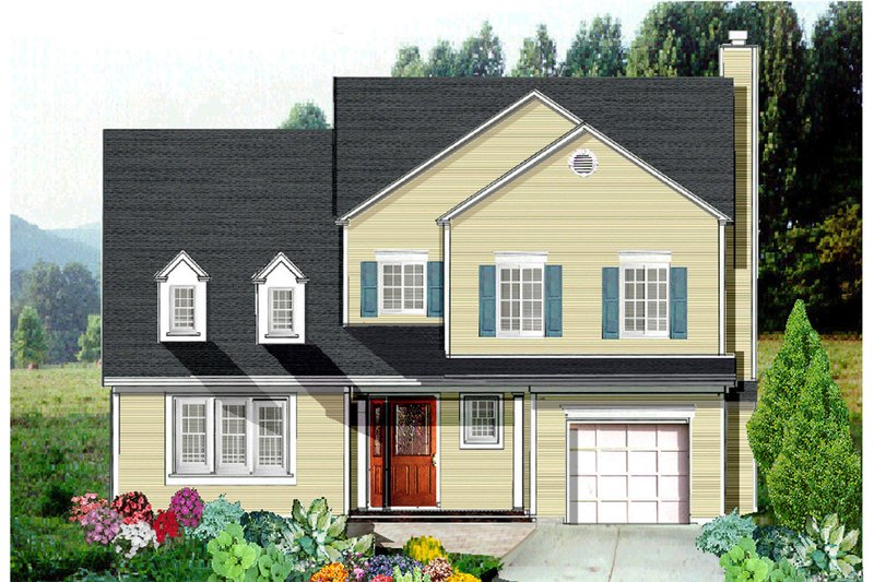 Country Exterior - Front Elevation Plan #3-263