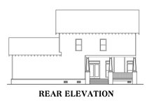 Craftsman Exterior - Rear Elevation Plan #419-282