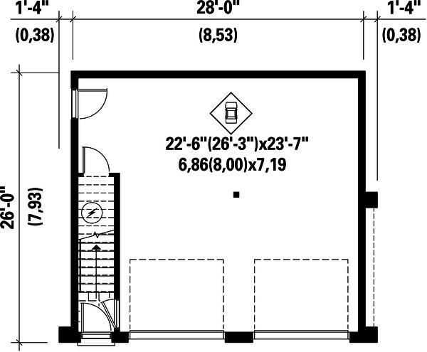 Contemporary Floor Plan - Main Floor Plan #25-4753