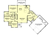 European Floor Plan - Main Floor Plan Plan #430-168
