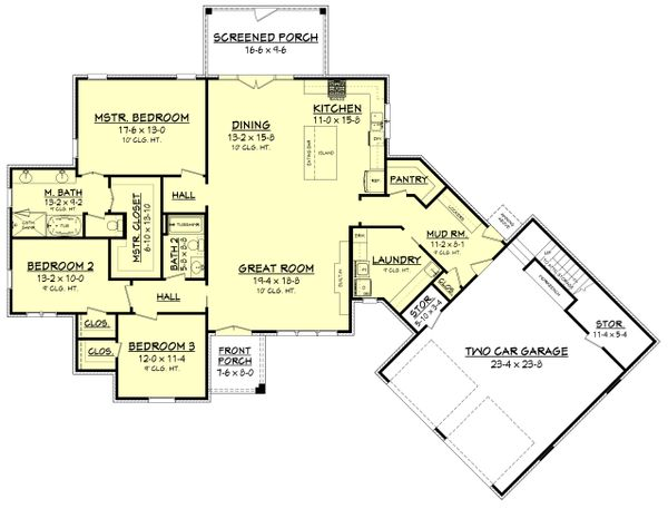European Floor Plan - Main Floor Plan Plan #430-168