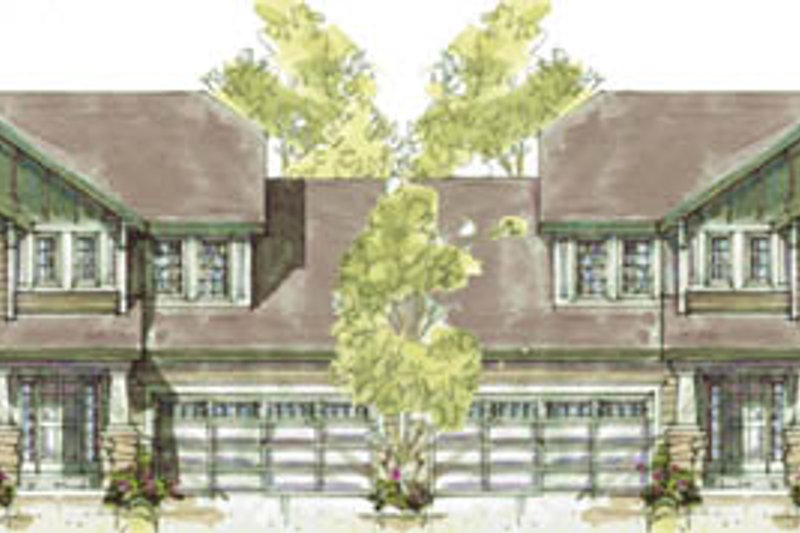 Traditional Exterior - Front Elevation Plan #20-1268