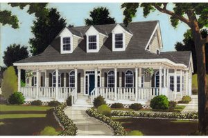 Architectural House Design - Colonial Exterior - Front Elevation Plan #3-253