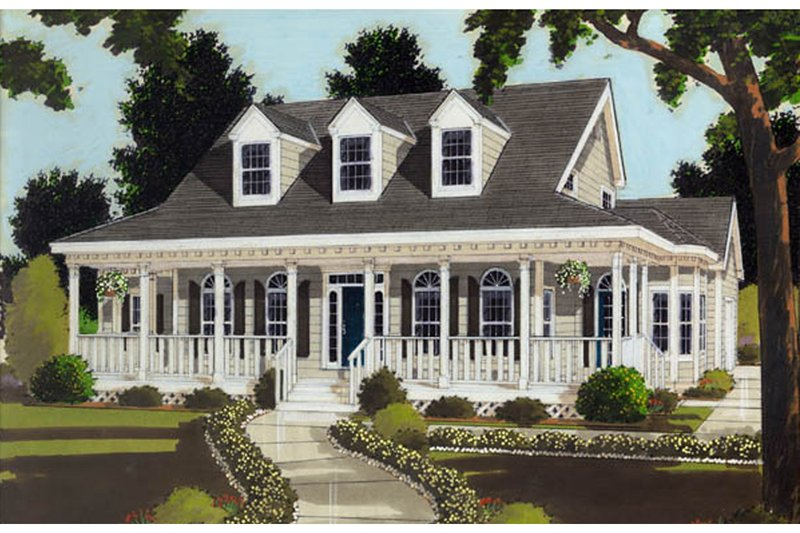 Home Plan Design - Colonial Exterior - Front Elevation Plan #3-253