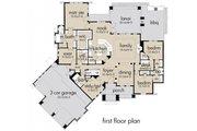 Craftsman Style House Plan - 3 Beds 3 Baths 2847 Sq/Ft Plan #120-172 Floor Plan - Main Floor Plan